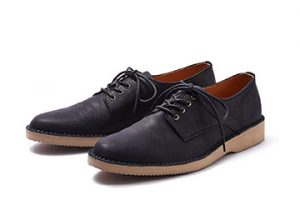 DERBY PLAIN TOE SHOES