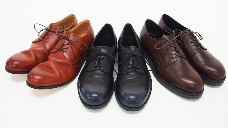 PADRONE DERBY PLAIN TOE SHOES / ダービープレーントゥシューズ